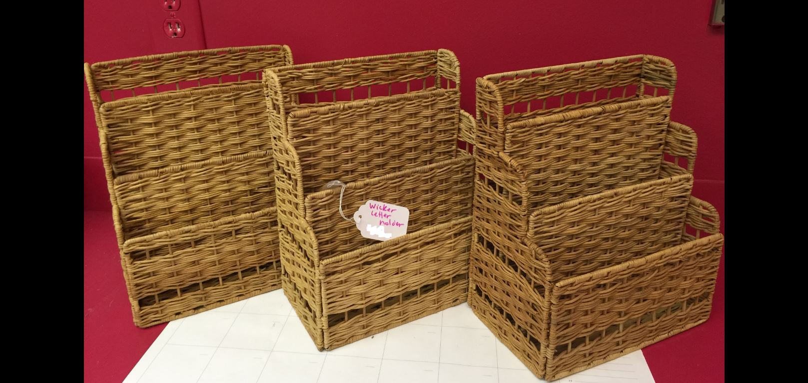 Wicker Sorters - set of 3